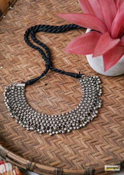 German Silver Statement Ghungroo Necklace