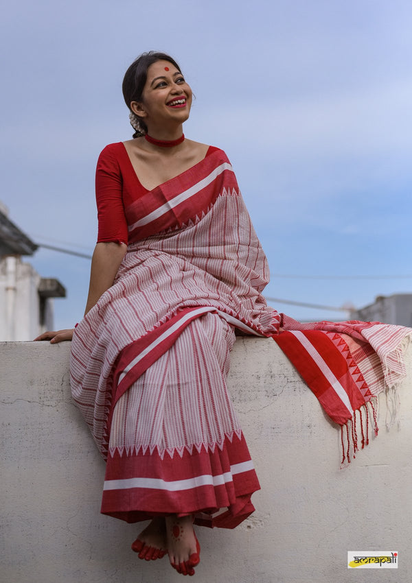 Handloom Pure Cotton with Kantha Jamdani Weave