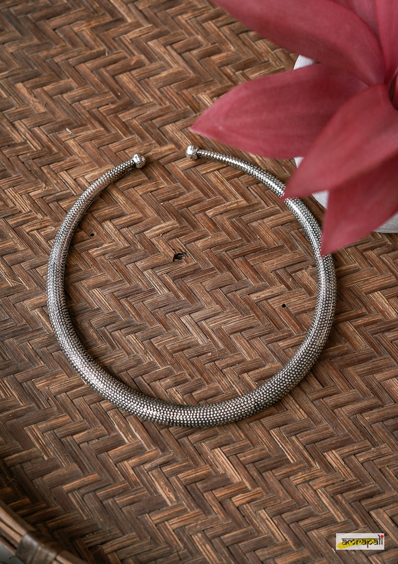 German Silver Tribal Hasli Necklace