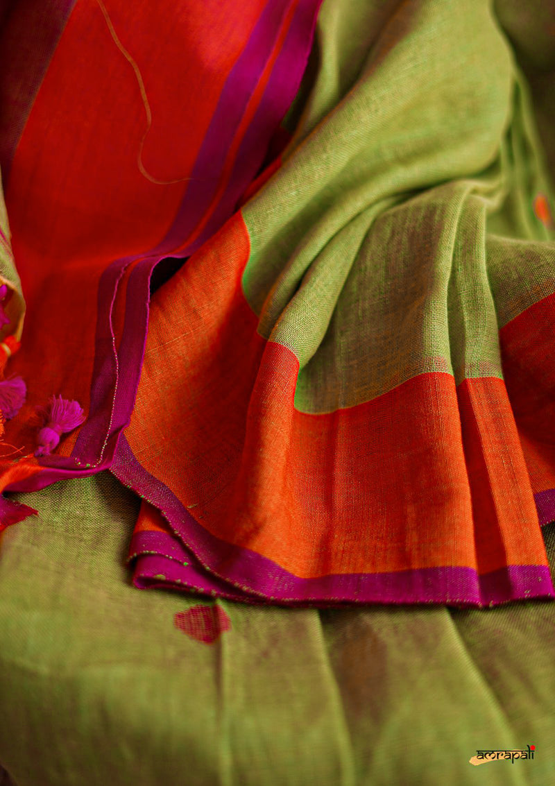 Handwoven Linen Cotton Jamdani