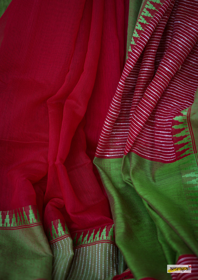 Handloom Cotton with Ghicha Kantha Weave