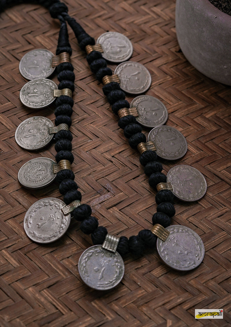 German Silver Handcrafted Coin Necklace