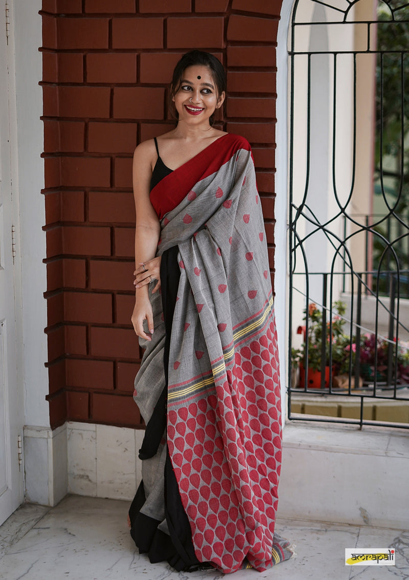 Pure Handloom Cotton with Jamdani Buti
