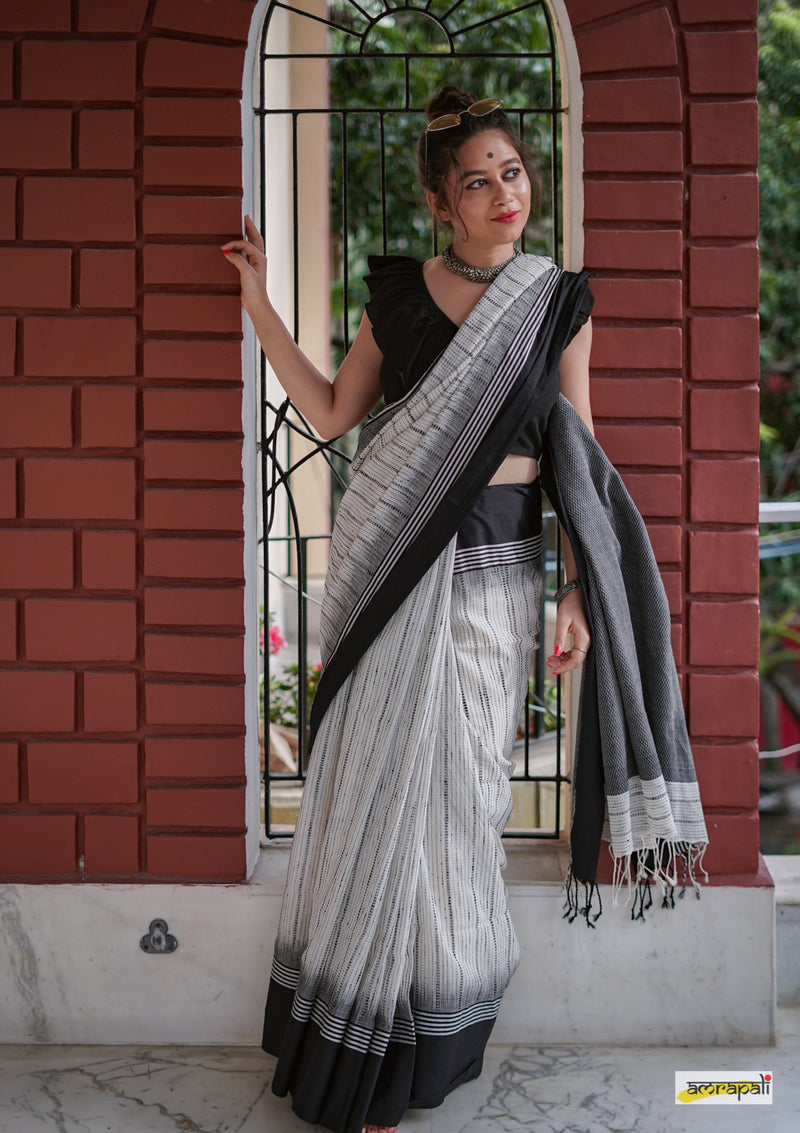 Handloom Pure Cotton with Kantha Weave