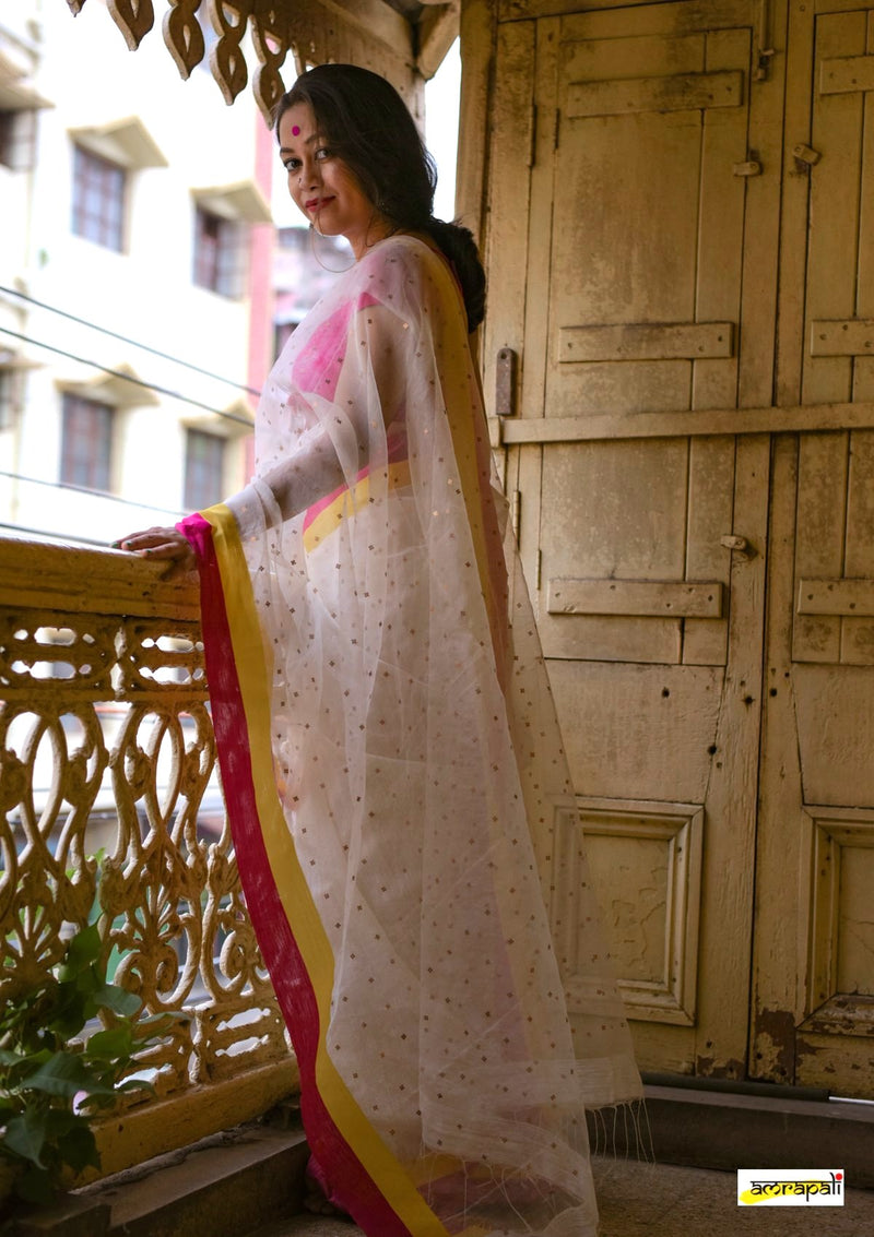 Handwoven Matka Resham with Woven Sequins