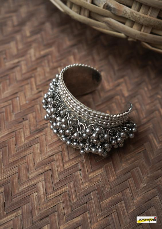 German Silver Adjustable Ghungroo Cuff