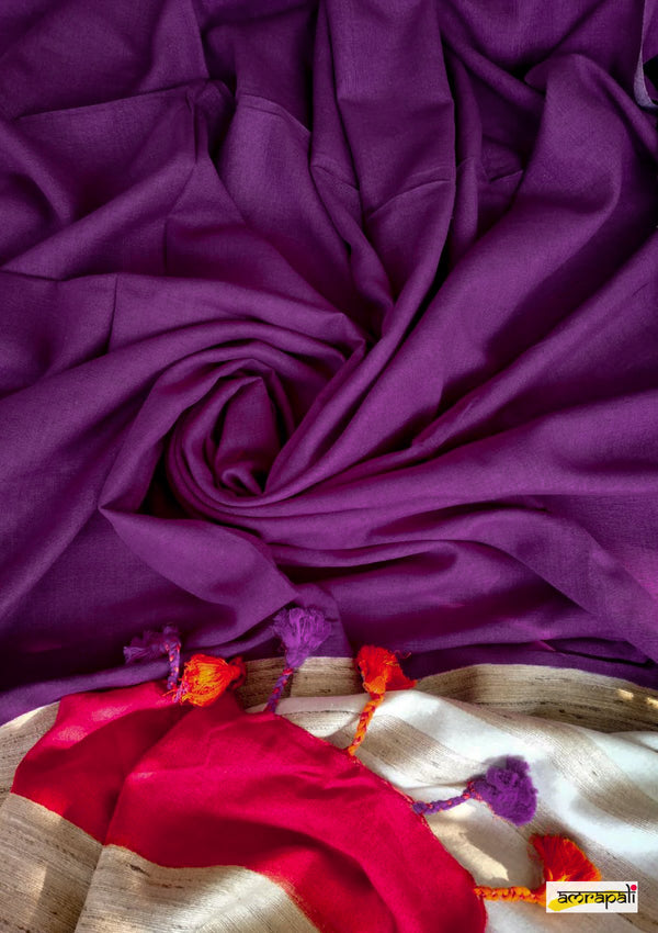 Handwoven Pure Dyed Matka Silk
