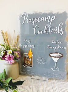A3 size, Signature drinks, custom drinks sign