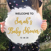 Load image into Gallery viewer, Bespoke Baby shower welcome sign