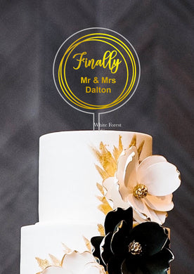 Finally Mr and Mrs  wedding Cake topper