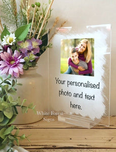 Personalised any photo and message sign- 25 words maximum