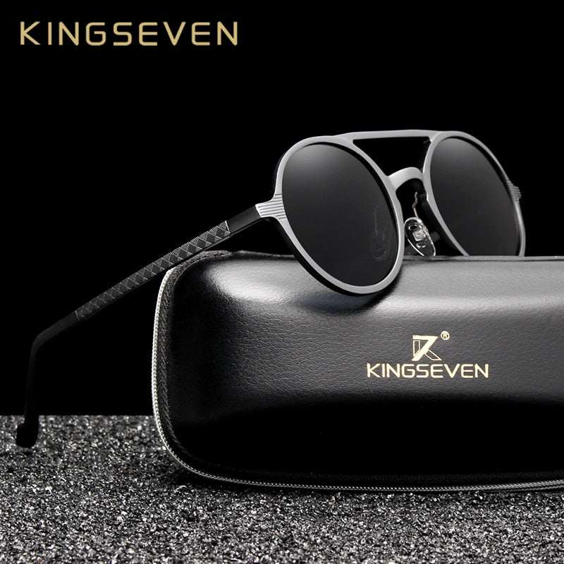 KINGSEVEN Polarized Round Sunglasses