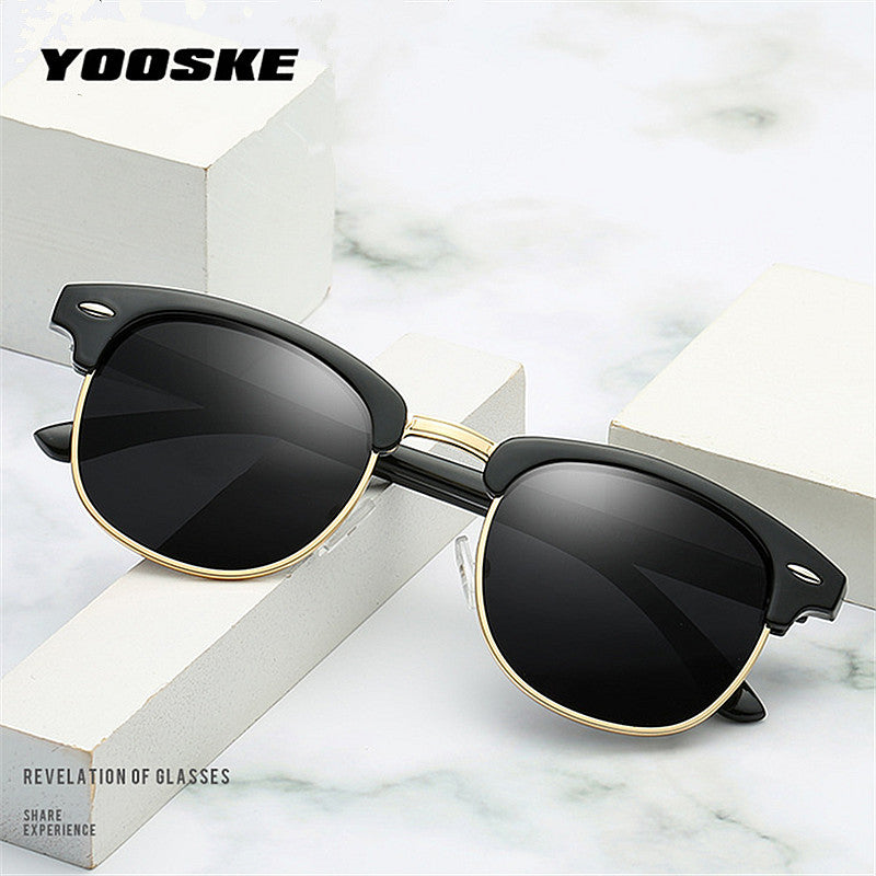 YOOSKE Retro Polarized Sunglasses - Unisex