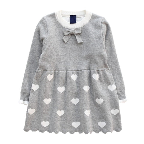 baby girls sweaters dress kids pullover christmas red winter children sweater cute beautiful child Clothes Cotton Long Sleeve