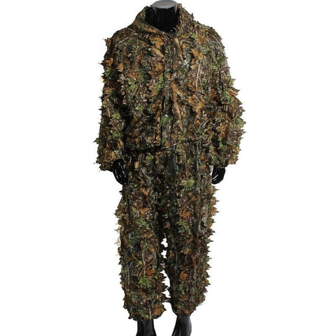 Hunting CS Game ClothingHunting Ghillie Suit 3D Camo Bionic Leaf Camouflage Jungle Woodland Birdwatching Poncho Men's Sportswear
