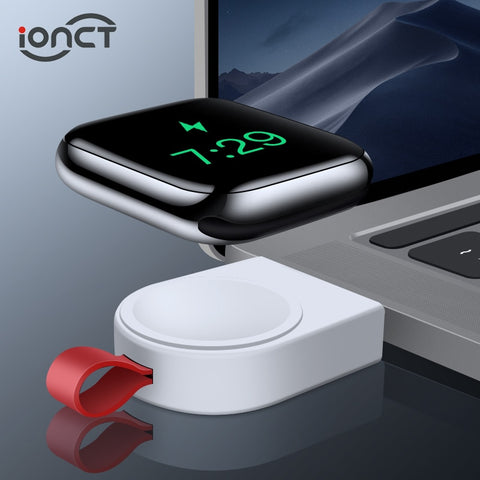 iONCT Wireless Charging For Apple Watch Charger Dock Magnetic For iWatch Charger 4 3 2 1 Apple Watch 4 Charger With USB Portable