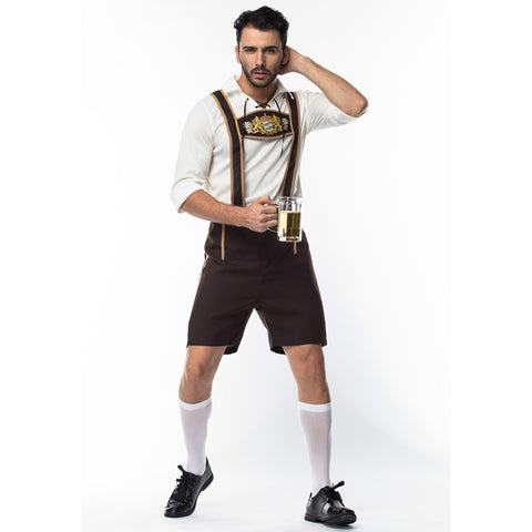 Plus Size Men's Oktoberfest Costumes Traditional German Bavarian Beer Male Cosplay Halloween Octoberfest Festival Party Clothes