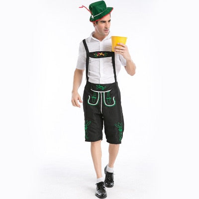 Men Beer Wench Costume German Bavarian Beer adult Oktoberfest cosplay  Costume For Carnival Purim day