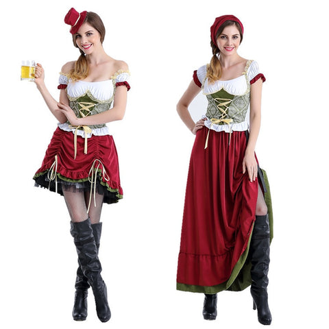 Oktoberfest Clothing Maid Dress Costumes Halloween Stage Clothes Restaurant Work Clothes Bar Waitress Cosplay Costumes 2019 NEW