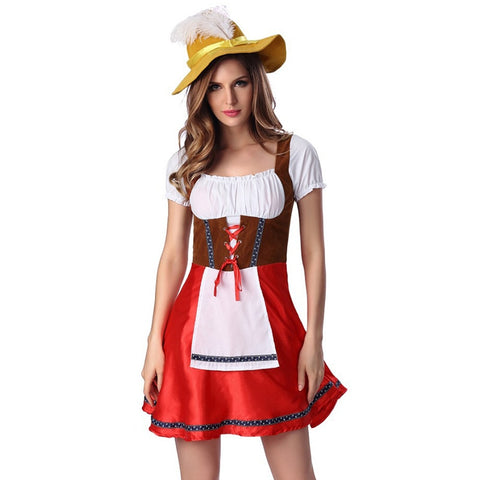 Women Sexy German Oktoberfest Clothing Bavarian Beer Girl Dress Maid Costume Adult Carnival Costumes Halloween Cosplay Uniform