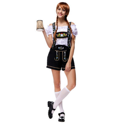 Woman short pants Beer Wench Costume German Bavarian Beer adult Oktoberfest Costume cosplay For girls Carnival Purim day