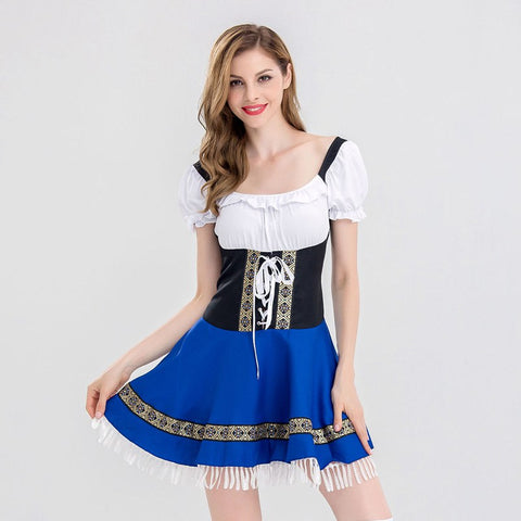 Women Oktoberfest Costume Octoberfest Bavarian Dirndl Maid Peasant Dresses Party Female Oktoberfest Dress 2018 Party Vestidos