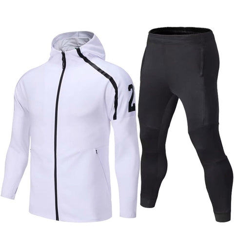 2019 Sport Suit Winter Men Soccer Running Hoodie Jackets Long Sleeve Tracksuit Men Soccer Jersey Training Suit Football Suits