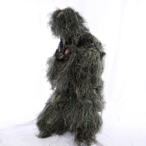 2019 Hunting Clothes Suit Camouflage Ghillie Suit Outdoor Hunting Forest Apparel for Wargame Airsoft Tactical Jacket and Pants