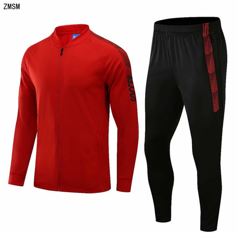 Kids adult Soccer Tracksuit Child Men Long sleeve Jersey Set Football Jackets & Pants Outdoor Running Training Suit Sports kit