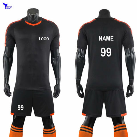 Custom Support Adult Men Boys Training Soccer Sets Football Jerseys Suits Shirts + Shorts Futsal Uniforms Breathable Tracksuit