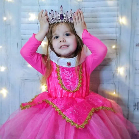 Girl Sleeping Beauty Aurora Princess Costume for Kids Girls Dress Children Party Cosplay Costume Summer Briar Rose Dress Vestido