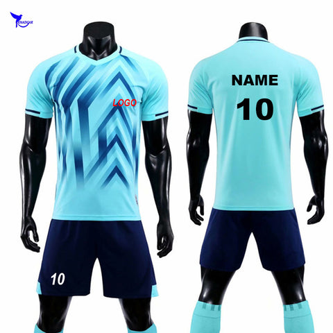 Customized Team Sports 2018-2019 Football Jerseys Set DIY Survetement Soccer Uniforms Breathable Tracksuit Futsal Training Suits