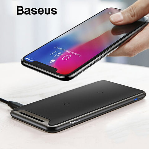 Baseus Qi Wireless Charger For iPhone Xs Max XR Samsung S9 Note 10 Xiaomi Desktop Wireless Charger Wireless Charging Pad Station
