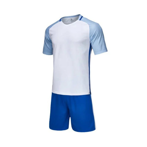 Blank Football Jersey adult & child soccer set Short sleeve tracksuit Sportswear soccer shirt & shorts Football training suit