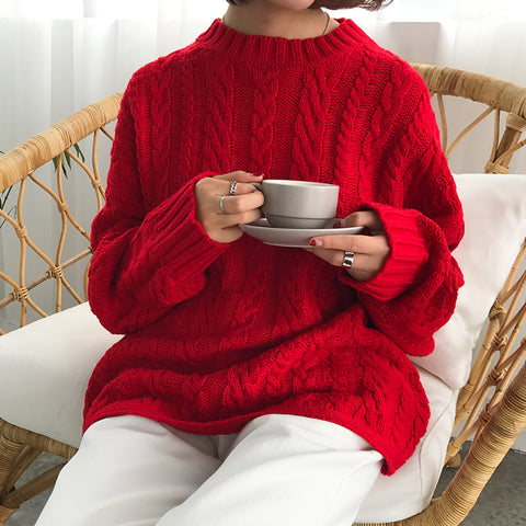 4 colors 2017 autumn and winter vintage twist christmas sweaters womens sweaters and pullovers womens  (B0912)