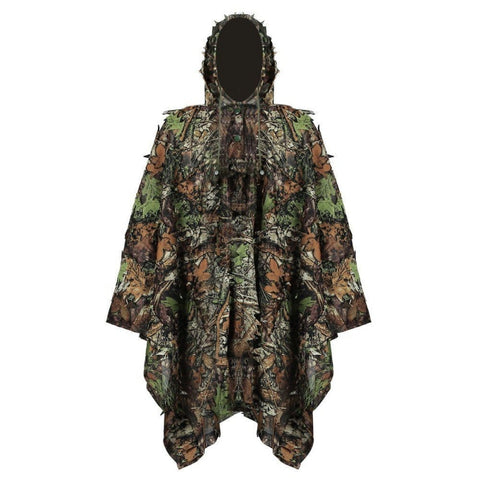 2018 Hunting Ghillie Suit 3D Camo Bionic Leaf Camouflage Jungle Woodland Birdwatching Poncho Manteau Hunting Clothing Durable