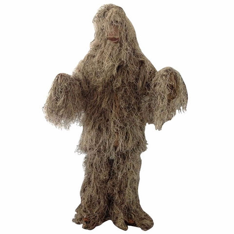 Outdoor Hunting Bird Watching Stealth Ghillie Clothes Suit Army Fan Field Camping Training Shooting Sniper Tactical Military Set