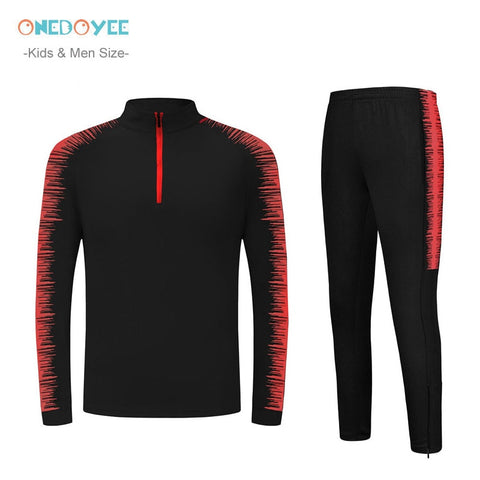 2019 Winter Football Tracksuits Men & Kids Long Sleeve Soccer Jerseys Children Outdoor Running Training Suits Players Sportswear