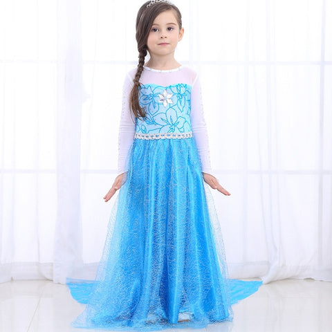 Girls princess dress 2019 Halloween Girls Cinderella & elsa & rapunzel Cosplay Costume Kids Cinderella Party Dress for girls