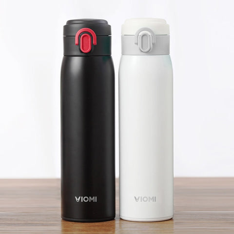 New Original Xiaomi mi Mijia VIOMI Stainless Steel Vacuum 24 Hours Flask Water Smart Bottle Thermos Single Hand ON