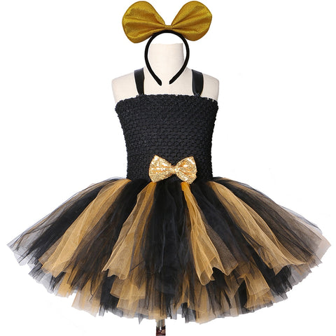 Black Gold Lol Tutu Dress Girl Kids Princess Tutu Dresses for Girls Birthday Party Carnival Halloween Lol Dolls Cosplay Costume