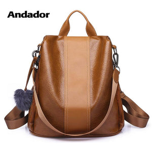 Premium Leather Three way Women's Backpack