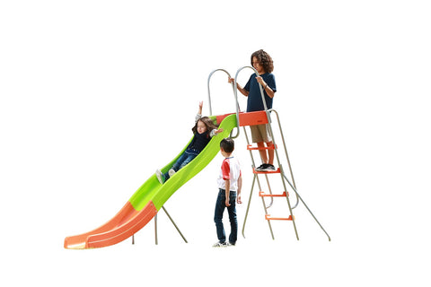Image of SlideWhizzer 10ft slide - one of the largest freestanding slides for your backyard for summer 2020!