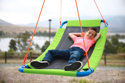 "Image of Giant Outdoor Platform Swing - Large 34"" x 60"" - summer 2020 Kids Playground"