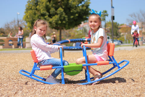 SlideWhizzer Rocking Seesaw for kids age 3 - 6, indoor and outdoor fun all summer 2019!