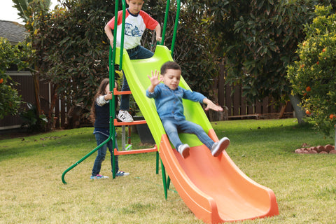 SlideWhizzer 8ft slide - large kids slide for your backyard in summer 2019!