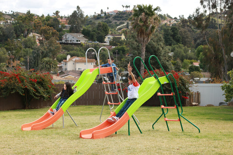 Image of SlideWhizzer 8ft slide - large kids slide for your backyard in summer 2020!