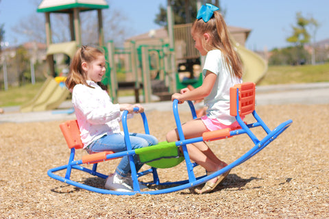 Image of SlideWhizzer Rocking Seesaw for kids age 3 - 6, indoor and outdoor fun all summer 2020!