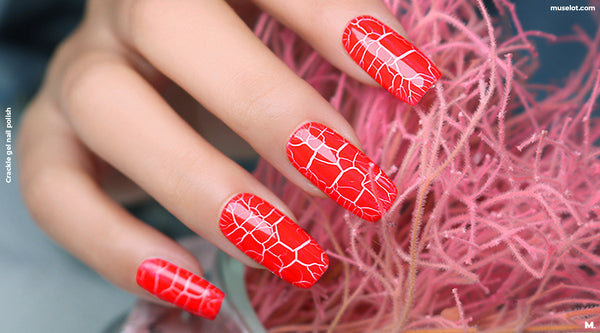 Crackle nail polish set of 6 bottles by Muselot.