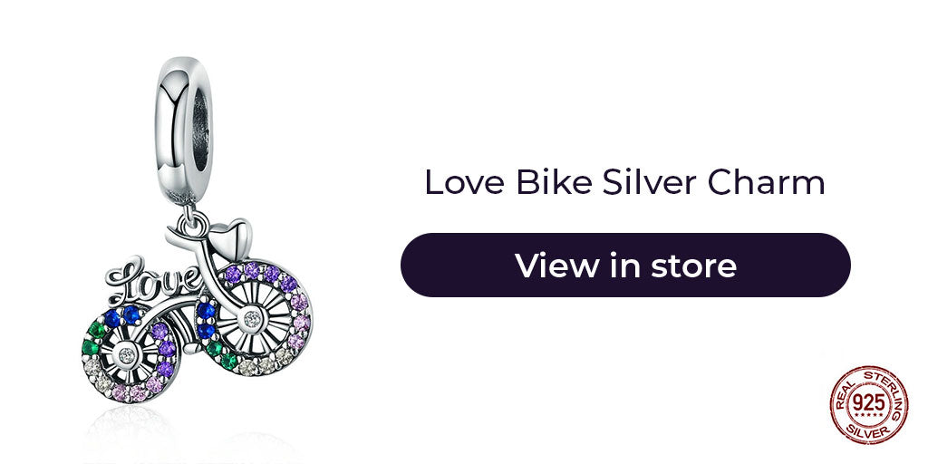 Gift guide for friends in 2019  - Sterling silver lovely bike charm for charm bracelets and charm necklaces.Best personalized gift idea to make charm bracelets for women. Best personalized gift idea to make charm bracelets for women. Best personalized gift idea to make charm bracelets for women. Best gift ideas to make charm bracelets for women who loves travelling or with whom you shared lovely rides on her bike.